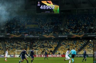 «Динамо» подякувало вболівальникам за рекордну підтримку в матчі з «Олімпіакосом»