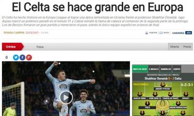Витягнутий з капелюха пенальті як запорука епічної перемоги. Іспанська преса – про матч «Шахтаря» та «Сельти»