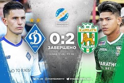 «Динамо» ганебно програє «Карпатам» та відпускає «Шахтар» у відрив