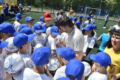 Бєланов та Шовковський провели «Відкритий урок футболу» в Запоріжжі