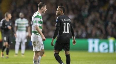 Неймар відмовився тиснути руку футболісту «Селтіка», після чого посміювався над гравцем