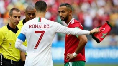 «Суддя просив футболку в Роналду» – ФІФА відповіла на звинувачення гравця Марокко