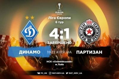 Хет-трик Мораєса виводить «Динамо» з першого місця в 1/16 Ліги Європи