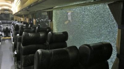Фанати «Олімпіакоса» атакували автобус «АЕКа»
