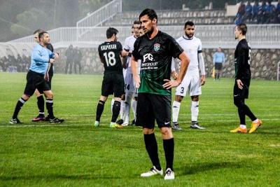 Мілевський заробив видалення в товариському матчі