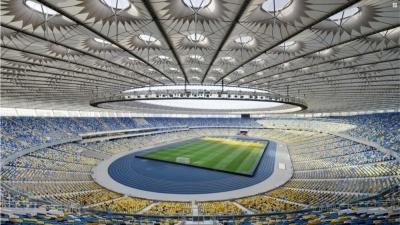 На яких стадіонах грають польські та українські клуби?
