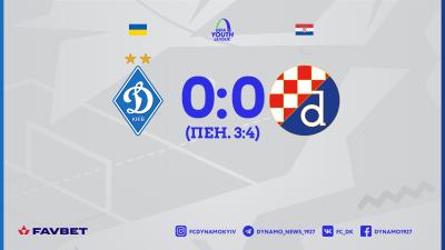 «Динамо» U-19 програло одноклубникам із Загреба в серії пенальті та вилетіло з Юнацької ліги УЄФА