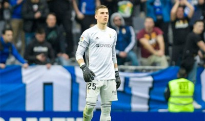 Лунин стал лучшим игроком матча «Овьедо» — «Расинг» по версии SofaScore