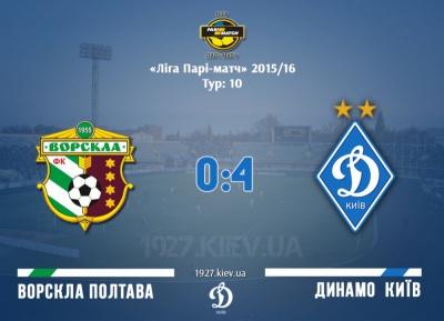 «Ворскла» — «Динамо»: 0:4. «Біло-сині» декласують «ворсклян»