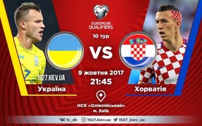Букмекери оцінили шанси України перемогти Хорватію у відборі ЧС-2018