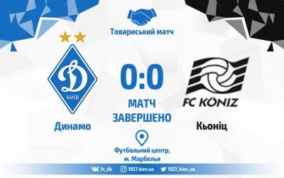 Перша безгольова нічия. «Динамо» - «Кьоніц» - 0:0