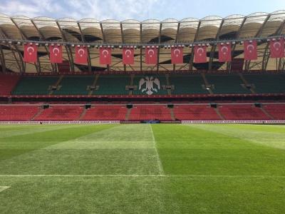 Стадіон «Конья Бююкшехір» готується до матчу Туреччина - Україна