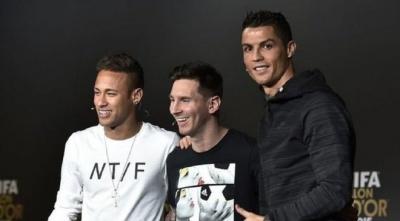 Мессі, Роналду і Неймар потрапили до топ-10 найприбутковіших зірок за версією Forbes