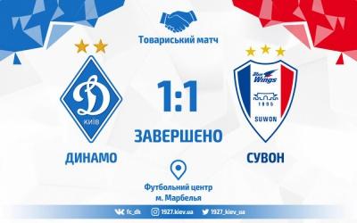 «Динамо» — «Сувон Самсунг Блувінгз». Гол Яремчука рятує киян від поразки: 1:1