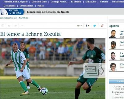 Іспанські ЗМІ продовжують тиснути на Романа Зозулю