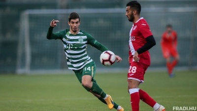 Харатин забил свой первый мяч в составе «Ференцвароша» в чемпионате Венгрии