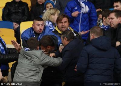 Свідки розповіли подробиці бійки на матчі «Динамо» - «Челсі»