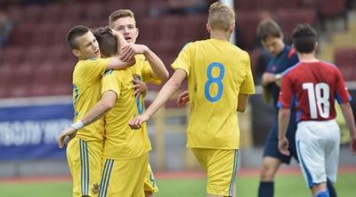 Юнацька збірна України перемагає однолітків із Франції в рамках Євро-2018