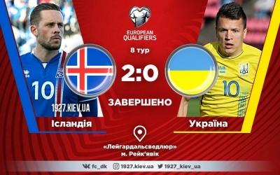 Збірна України програє Ісландії та ставить під питання вихід на ЧС-2018