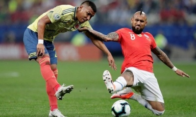 Збірна Чилі, слідом за Аргентиною та Бразилією, стала третім півфіналістом Кубку Америки