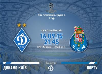 Ліга чемпіонів: «Динамо» - «Порту». Передматчеві коефіцієнти