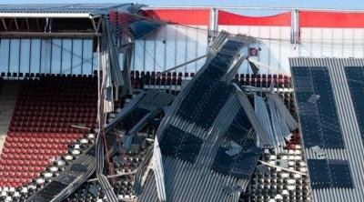 Стадион АЗ пострадал от ужасных разрушений за несколько дней до матча против «Мариуполя» в Лиге Европе
