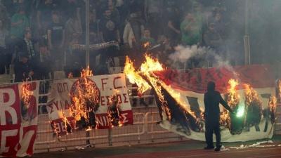 «Панатінаїкос» і «Олімпіакос» не дограли матч через божевілля на трибунах