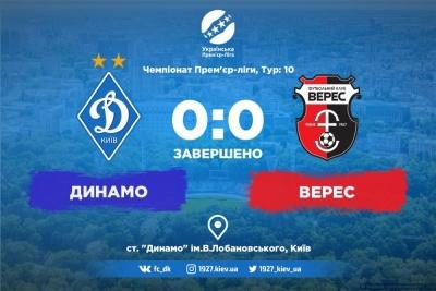 Голи залишаються на «Партизан»? «Динамо» сенсаційно грає внічию з «Вересом»