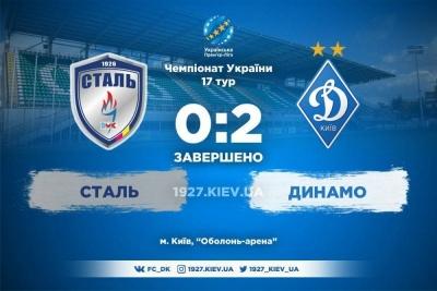 Перевірка молоддю: «Динамо» спокійно переграло «Сталь»