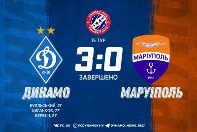 «Динамо» розгромило «Маріуполь» у 15 турі УПЛ