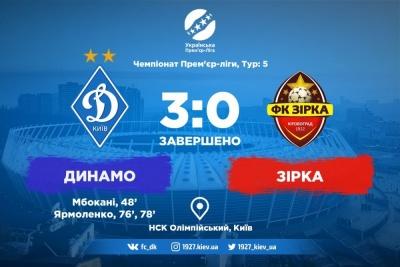 Два різних тайми. «Динамо» — «Зірка»: 3:0