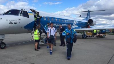 Збірна України прилетіла до Словаччини і провела тренування
