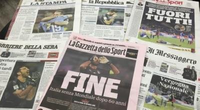 «Усіх розігнати, ідіть копати»: італійська преса розбомбила збірну Італії за історичне фіаско проти Швеції
