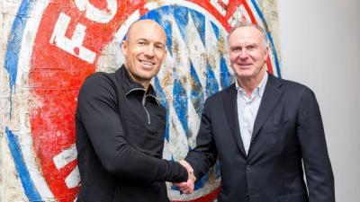 Офіційно: «Баварія» продовжила контракт з Ар'єном Роббеном