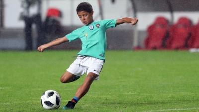 Роналду показав, як його син знову феєрить у дитячій команді «Ювентуса»