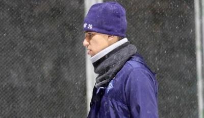 «Последняя тренировка с большим количеством снега». Буэно показал, как работал накануне игры с «Яблонцем»
