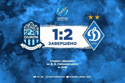 Голи Циганкова та Русина приносять «Динамо» перемогу над «Олімпіком»