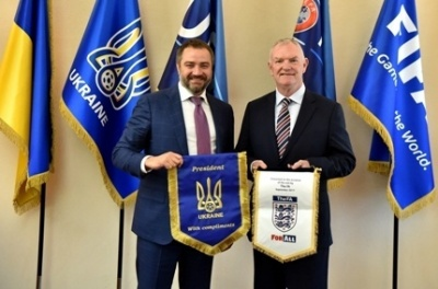 Андрій Павелко зустрівся з головою Асоціації футболу Англії
