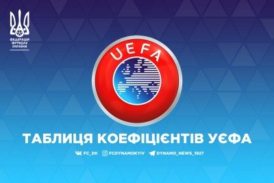 Україна збільшила відрив від Туреччини в таблиці коефіцієнтів УЄФА