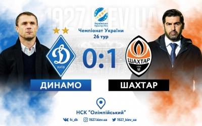«Шахтар» обіграв «Динамо» на НСК «Олімпійський»