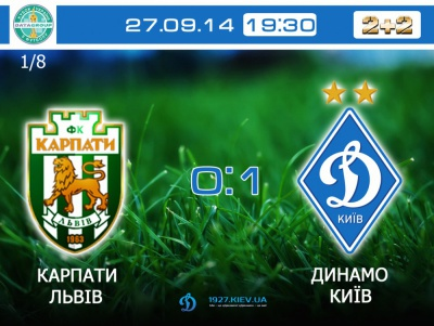 «Карпати» – «Динамо» 0:1. ТЕКСТЛАЙН