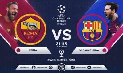 «Рома» – «Барселона»: прогноз на матч 1/4 фіналу Ліги чемпіонів