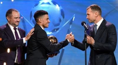 Шевченко довів Тайсона до сліз на церемонії вручення «Футбольні зірки України-2019»