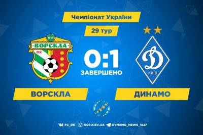 «Динамо» вириває у Полтаві три очки у надзвичайно важкому матчі