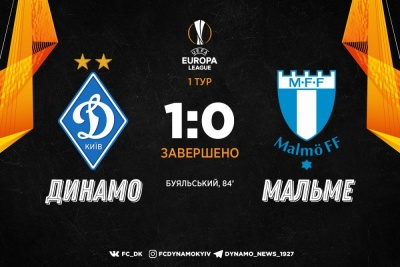 «Динамо» вистраждало перемогу над «Мальме»