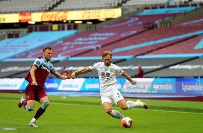 У Ярмоленко четвертая оценка из игроков «Вест Хэма» в матче против Бернли по версии Whoscored
