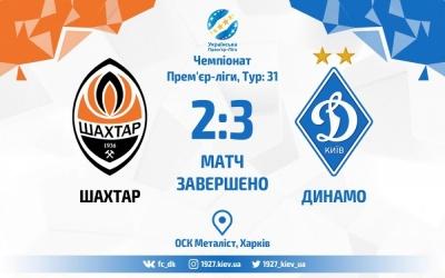«Динамо» перемагає у шаленому матчі донецький «Шахтар»
