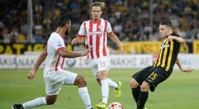 У стані суперника: АЕК зіграв унічию з «Олімпіакосом» у Кубку Греції, Чигринський відіграв весь матч