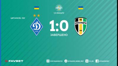 Циганков виводить «Динамо» до півфіналу Кубка України