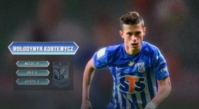 Костевич став найкращим лівим захисником чемпіонату Польщі